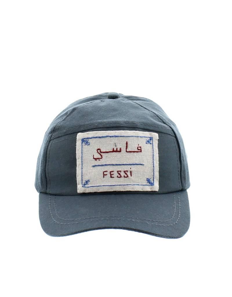 Marrakshi Life Casquette brodée main Fessi - Gris