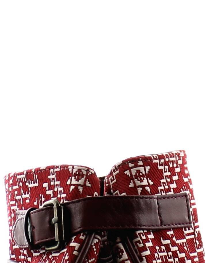 KifKif Sac à main en tissu brodé style Fès - Rouge
