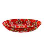 Chabi Chic Assiette décorative ethnique - Rouge