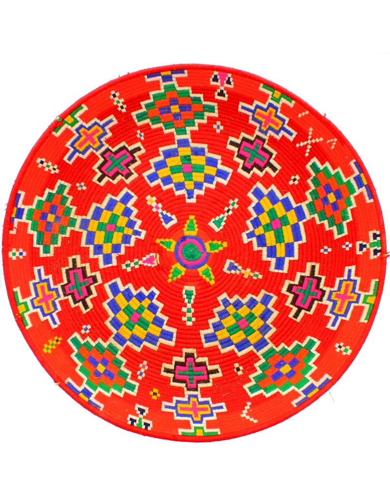 Chabi Chic Gevlochten ethnische schaal - Rood
