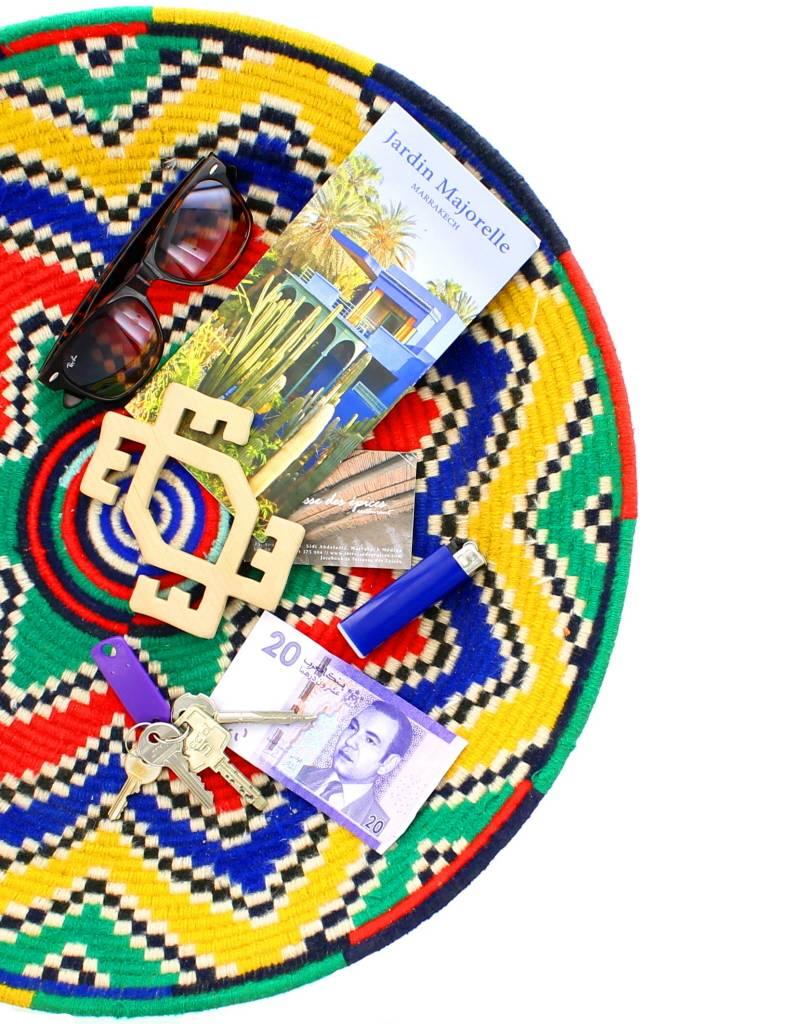 Assiette décorative ethnique - Multicolore - Rue du Maroc