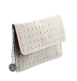 Maroc 'n Roll Clutch uit soepel kalfsleder - Wit