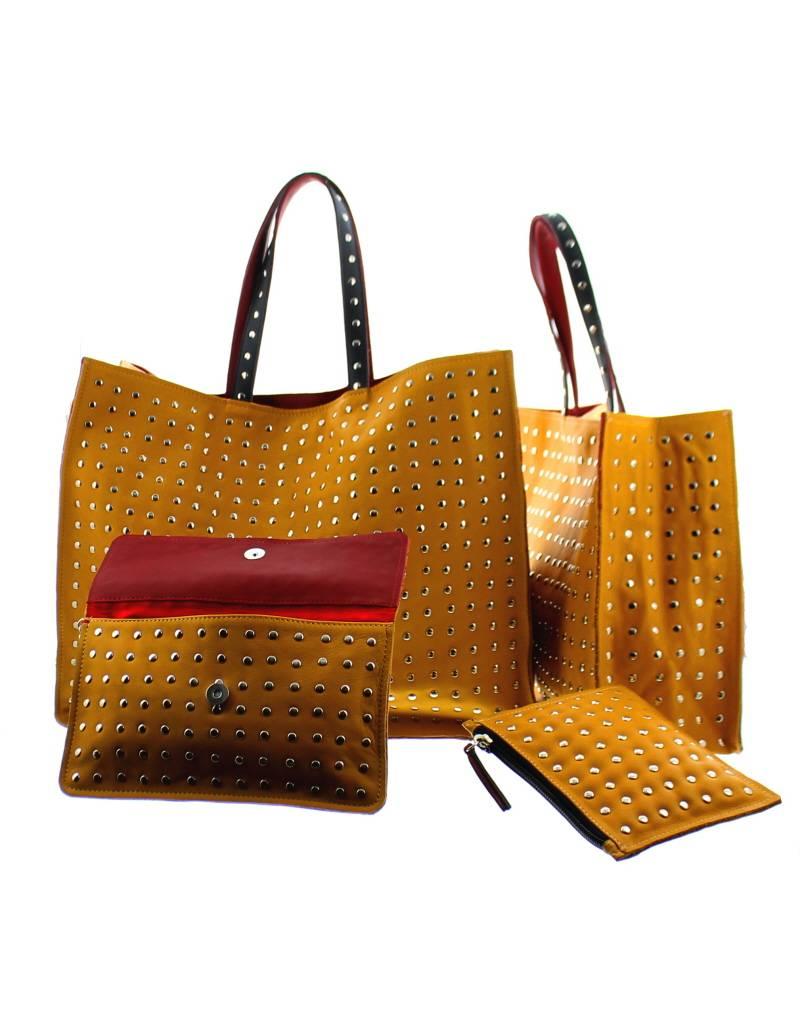 Maroc 'n Roll leather clutch porteur d'eau