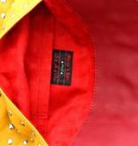 Maroc 'n Roll Pochette zippée en cuir de vachette - Ocre