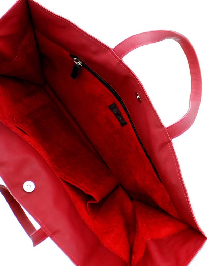 Maroc 'n Roll Soepele kalfslederen draagtas XL - Wit