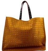 Maroc 'n Roll Cabas en cuir de vachette XL - Ocre