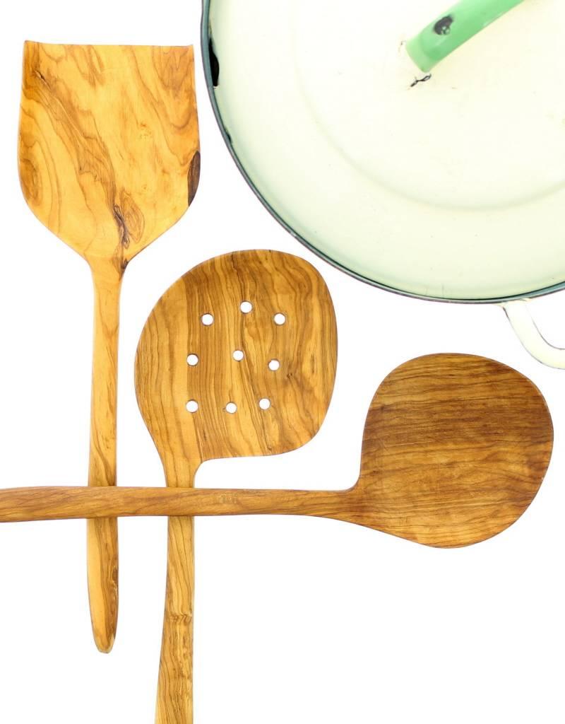 Chabi Chic Set ustensiles géants en bois d'olivier