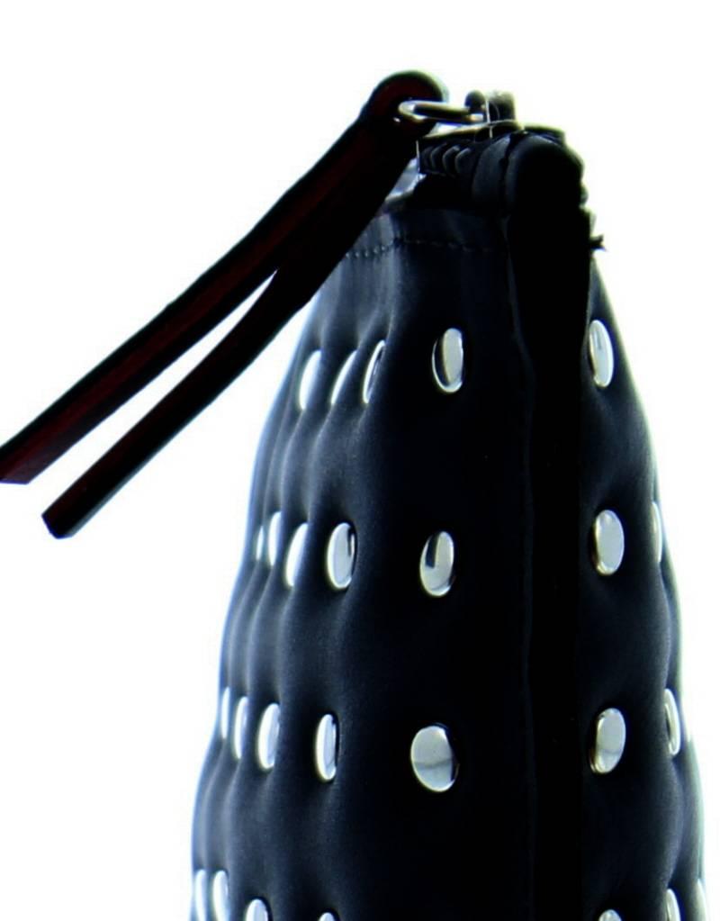 Maroc 'n Roll Pochette zippée en cuir de vachette - Noir