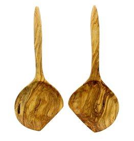 Chabi Chic Set couverts à salade XL en bois d'olivier