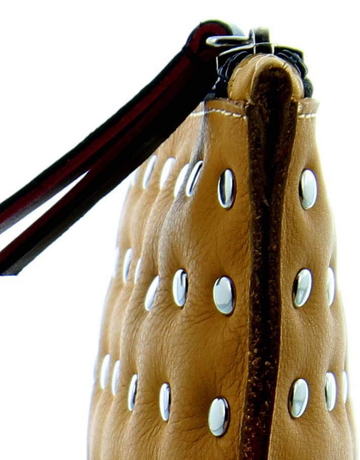 Maroc 'n Roll Pochette zippée en cuir porteur d'eau - Ocre