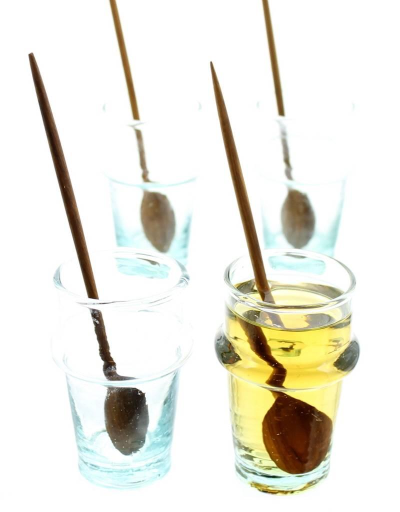 Chabi Chic Set cuillères à café en bois d'olivier