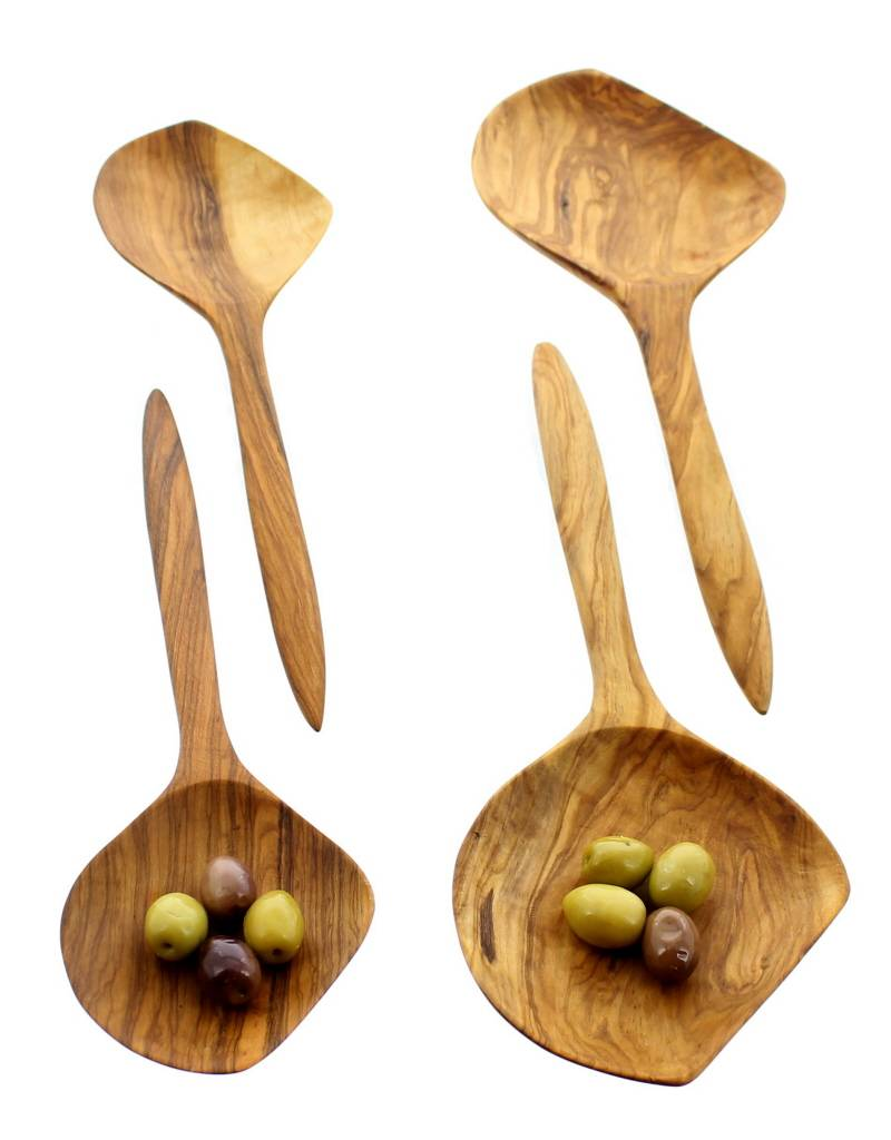 Chabi Chic Set van slabestek uit natuurlijk olijfhout
