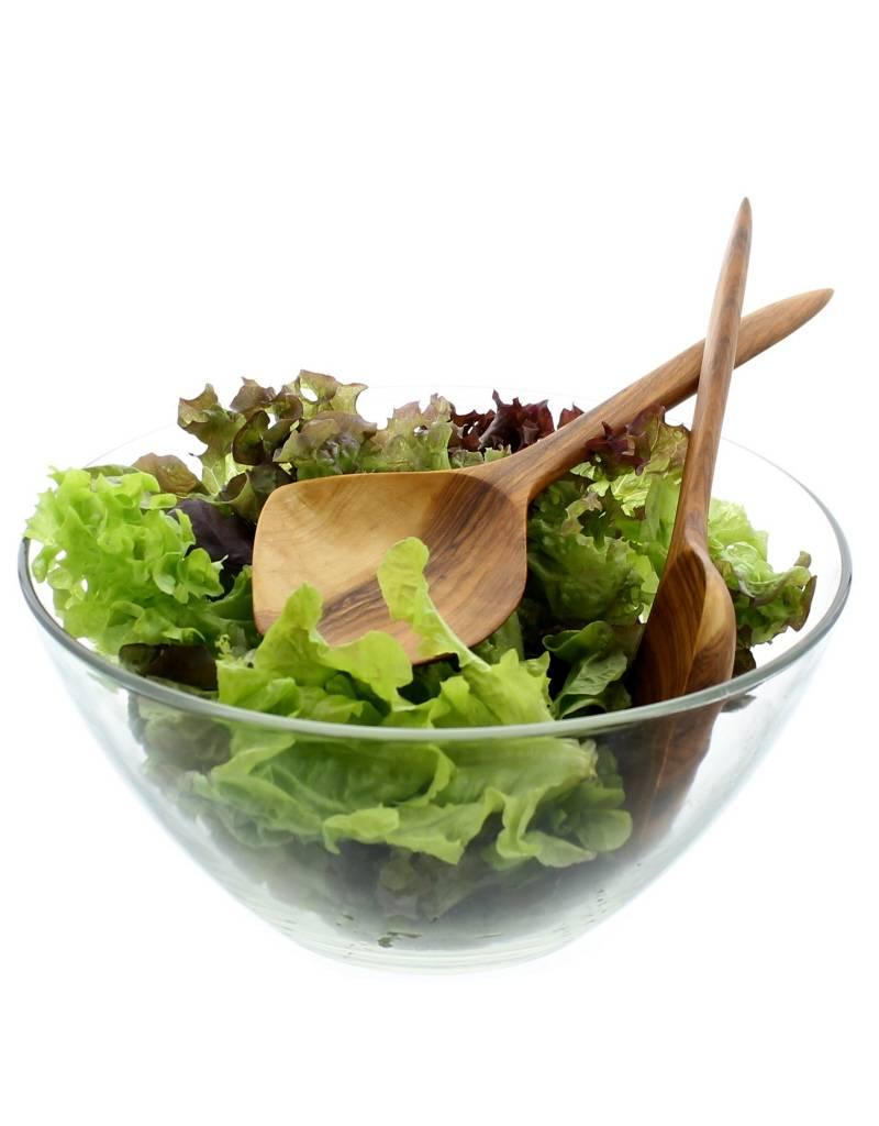 Chabi Chic Set couverts à salade en bois d'olivier