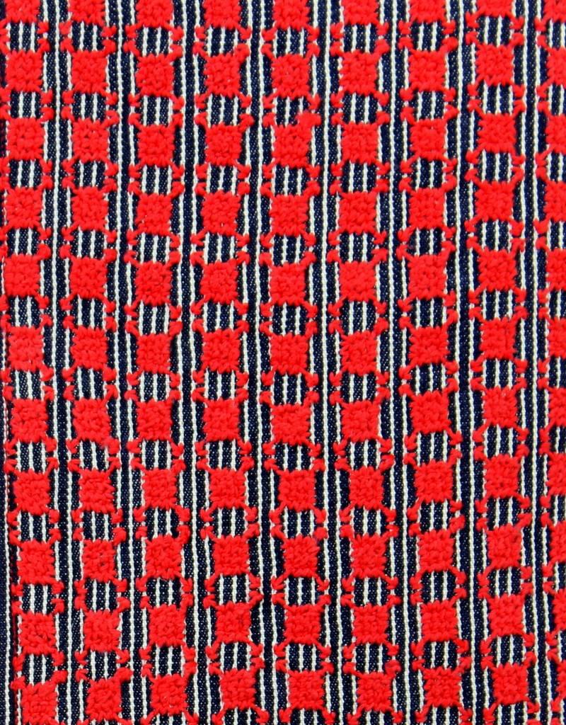 Maroc 'n Roll Pochette brodée main en satin - Rouge