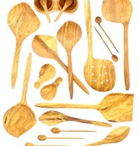 Chabi Chic Set cuillères jumelles en bois d'olivier