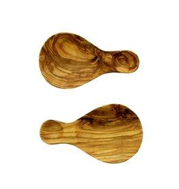 Chabi Chic Duo van schepjes uit natuurlijk olijfhout