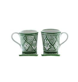 Chabi Chic Mok in ceramiek - Groen en wit