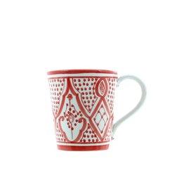 Chabi Chic Mok in ceramiek - Rood en wit