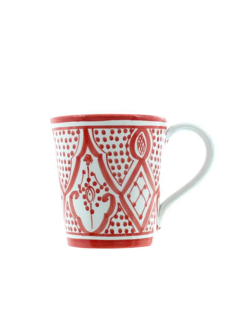 Chabi Chic Tasse Safi en céramique - Rouge et blanc