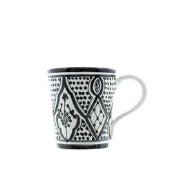 Chabi Chic Tasse Safi en céramique - Noir et blanc