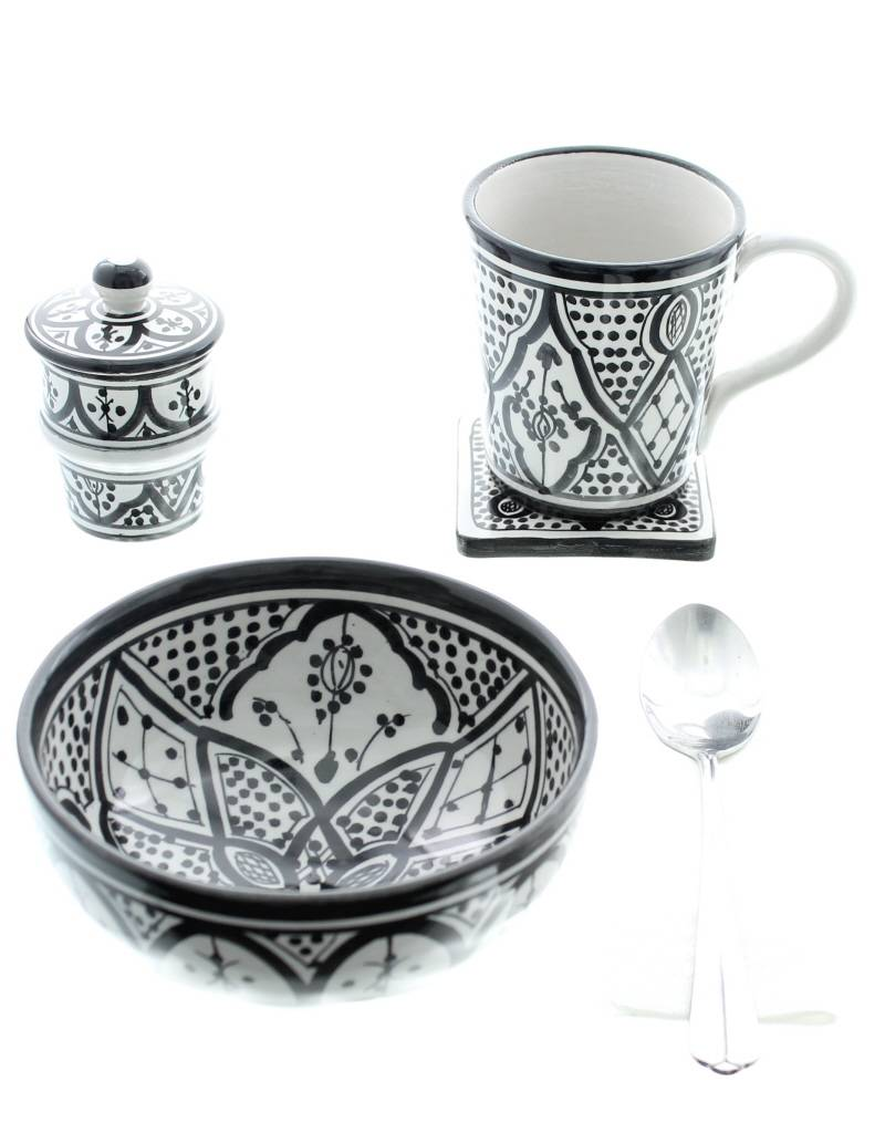 Chabi Chic Mok in ceramiek - Zwart en wit