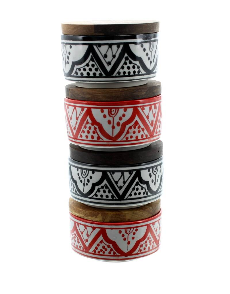 Chabi Chic jar with wooden lid