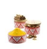 Chabi Chic Boite Safi en céramique - Rouge et blanc