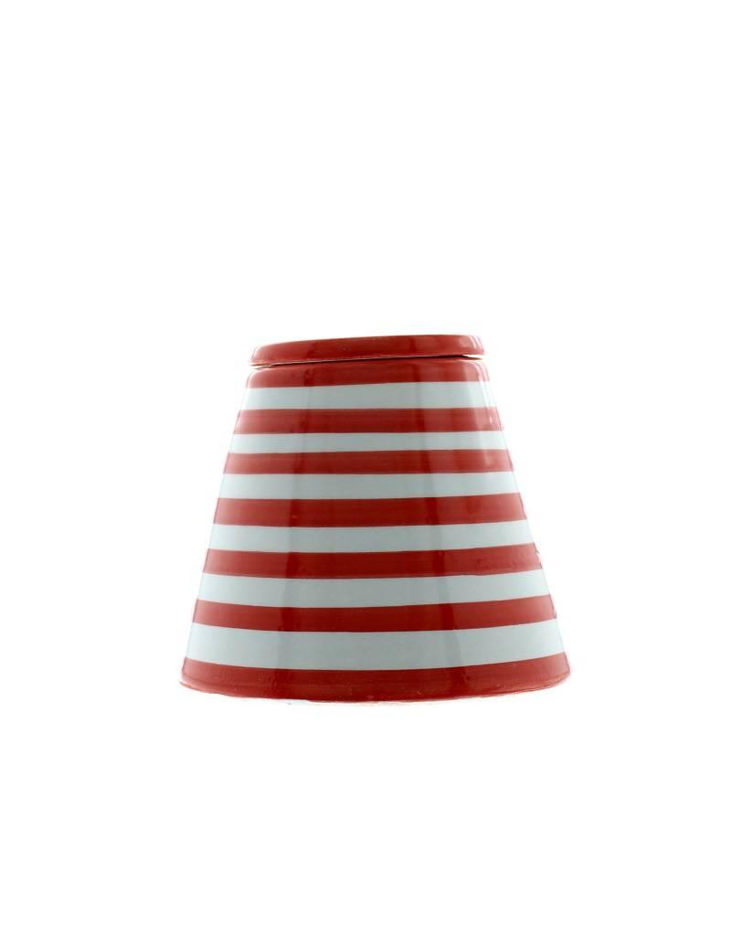 Chabi Chic Asbak uit ceramiek - Rood en wit zebra