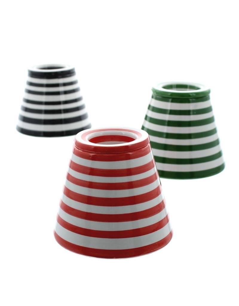 Chabi Chic Ceramic Ashtray - Red and white