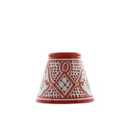 Chabi Chic Asbak uit ceramiek - Rood en wit Safi