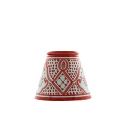 Chabi Chic Ceramic Ashtray - Red and white