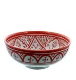Chabi Chic Saladier en céramique - Rouge et blanc