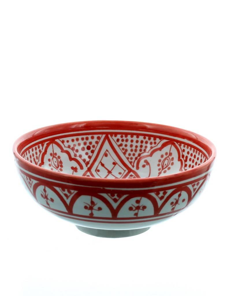 Schaal uit ceramiek rood en wit safi rue du maroc - Keuken in rood en wit ...