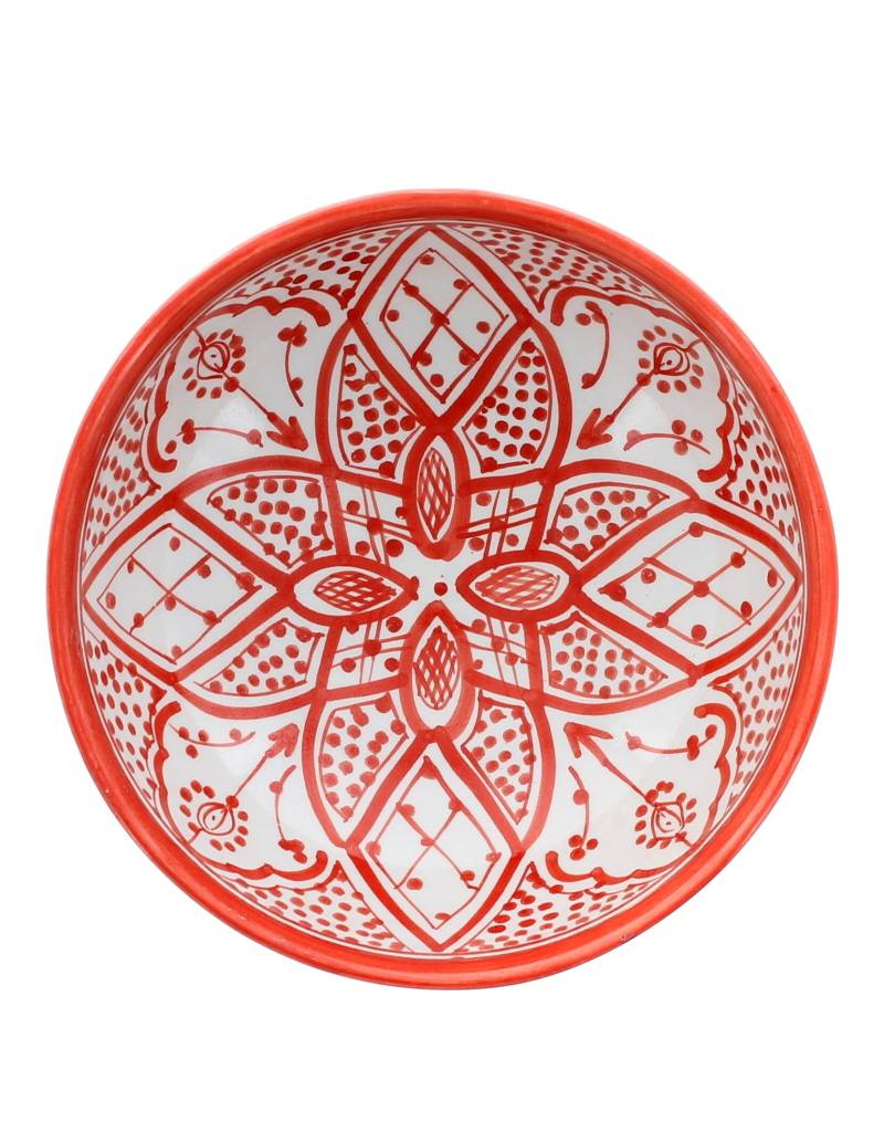 Chabi Chic Salad bowl Safi Style - Red and white