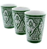 Chabi Chic Gobelet en céramique - Vert et blanc