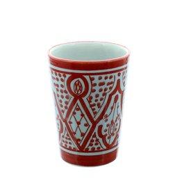 Chabi Chic Gobelet en céramique - Rouge et blanc