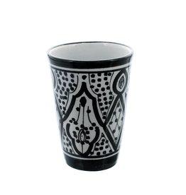Chabi Chic Gobelet en céramique - Noir et blanc