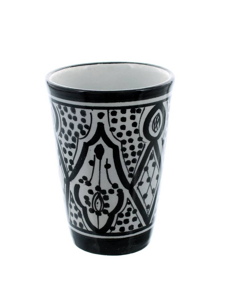 Chabi Chic Beker in ceramiek - Zwart en wit