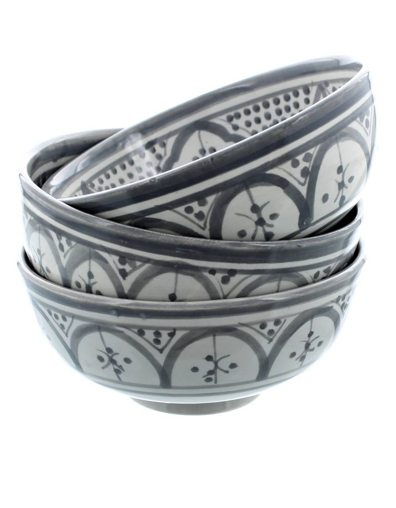 Chabi Chic Bowl Safi Style - Grey and white