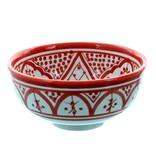 Chabi Chic Bol Safi en céramique - Rouge et blanc