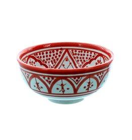 Chabi Chic Schaal uit ceramiek - Rood en wit Safi