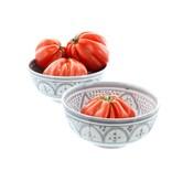 Chabi Chic Bol Safi en céramique - Gris et blanc