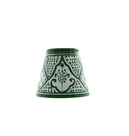 Chabi Chic Asbak uit ceramiek - Groen en wit Safi