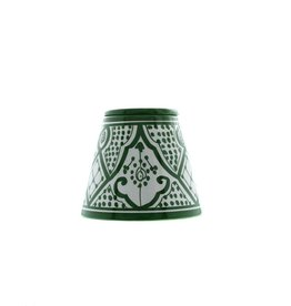 Chabi Chic Ceramic Ashtray - Green and white