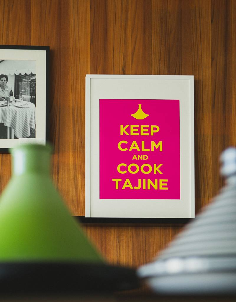 "Chabi Chic Poster - ""Keep calm and cook tajine"""