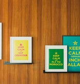 "Chabi Chic Poster - ""Keep calm and fly to morocco"""