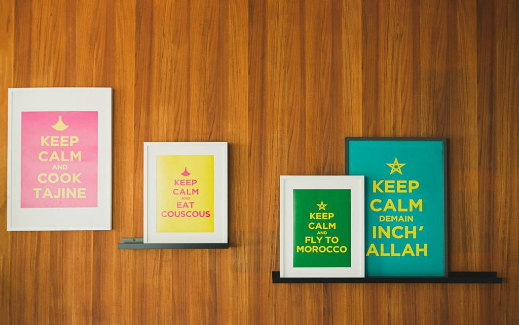 """Chabi Chic Affiche - """"Keep calm and fly to Morocco"""""""