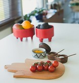 Bladi Design Serving bowl in beechwood M - Red