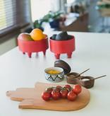 Bladi Design Set of serving bowls in beechwood - Red