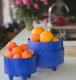 Bladi Design Serving bowl in beechwood M - Blue